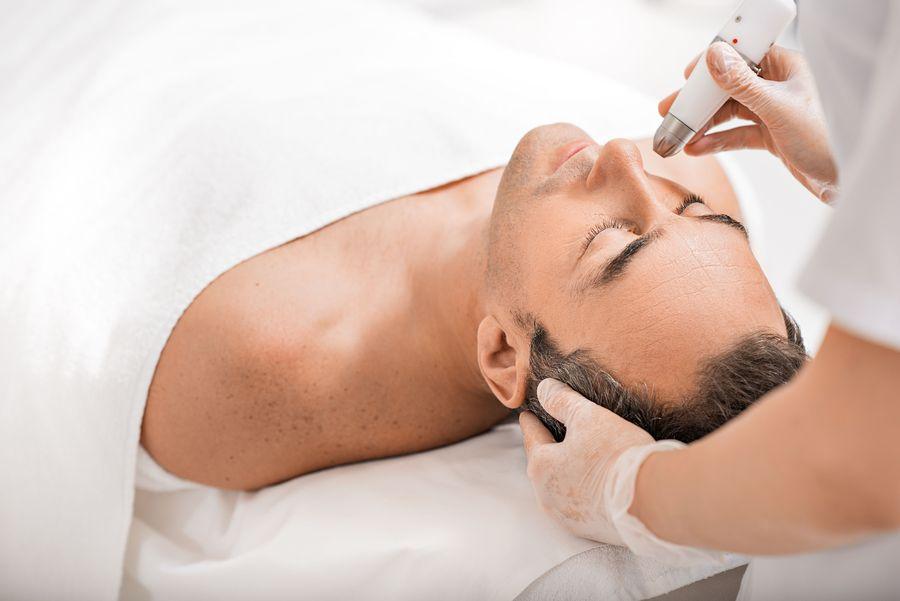 Man undergoing MedSpa treatment