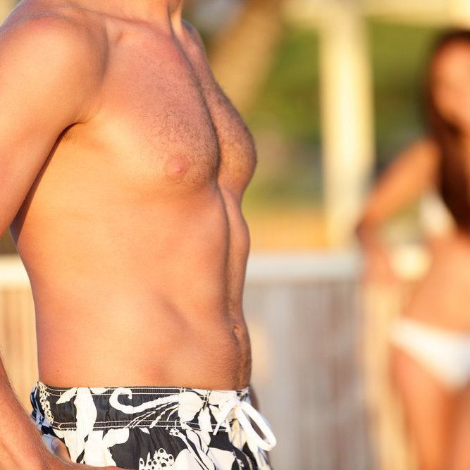 man's toned midsection
