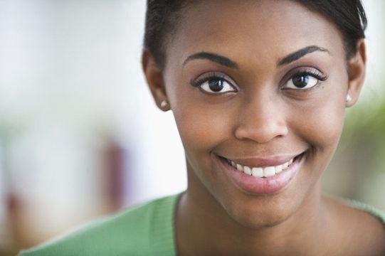woman with symmetrical smile