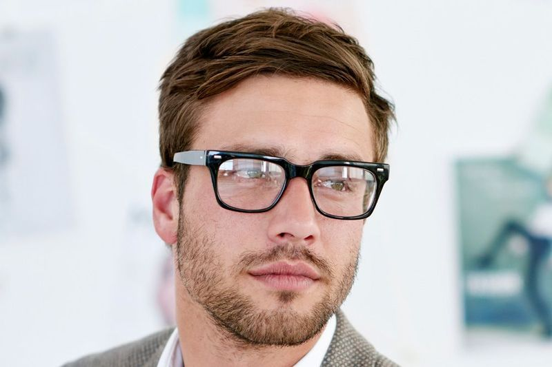 Handsome man in glasses