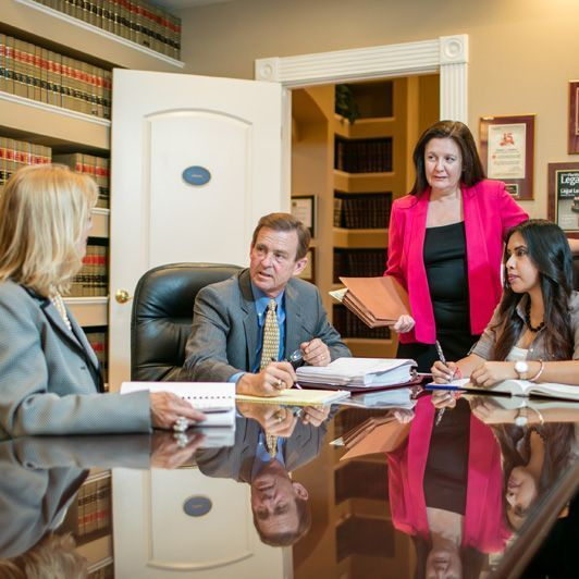 lawyer with paralegals