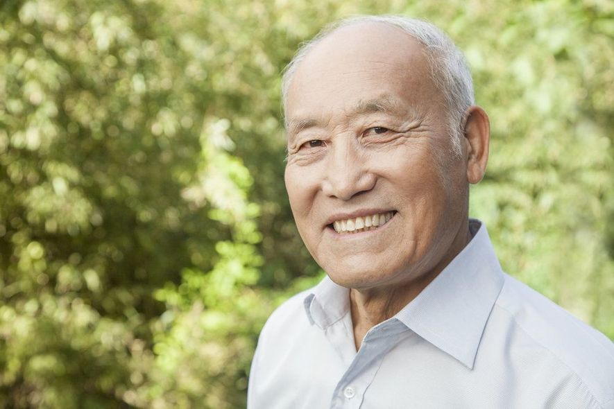 Smiling elderly man