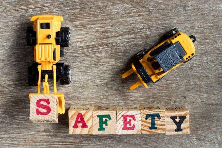 toy trucks and blocks