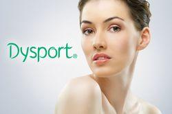 A woman after receiving Dysport® treatment