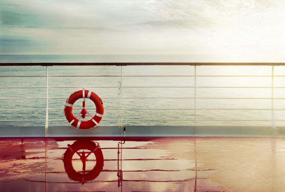 Photo of a deck on a ship