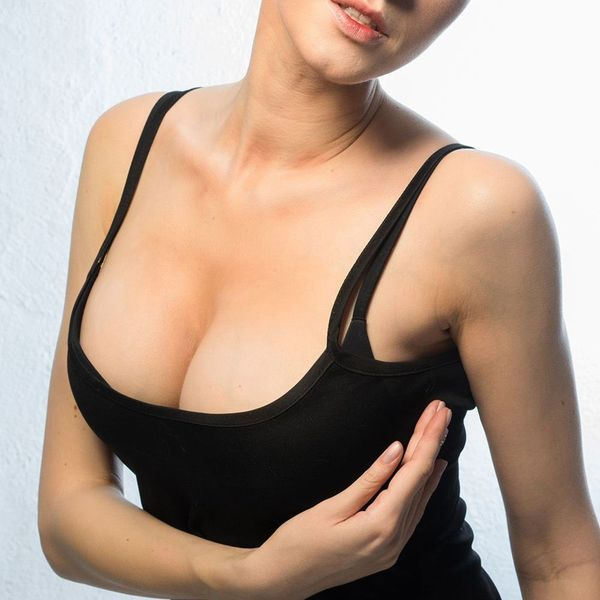 Woman with breast lift
