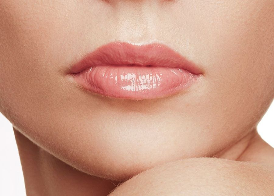 Photo of a full set of lips