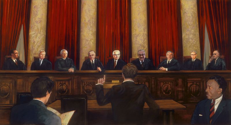 Painting of the Ideal Warren Court.