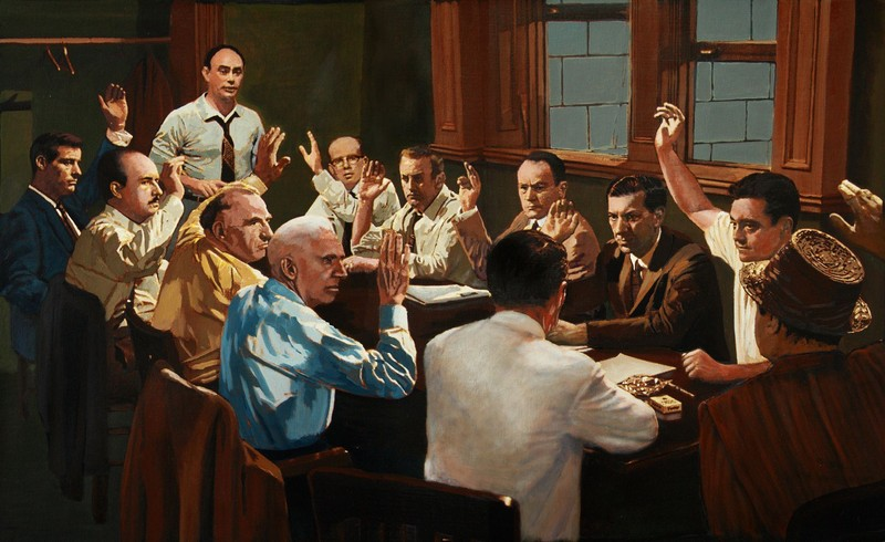 Painting of a Lone Holdout Juror.