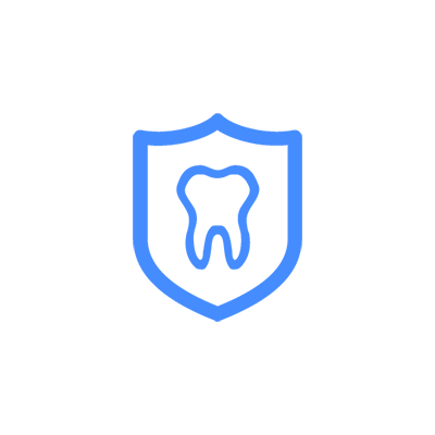 Illustration of tooth on shield