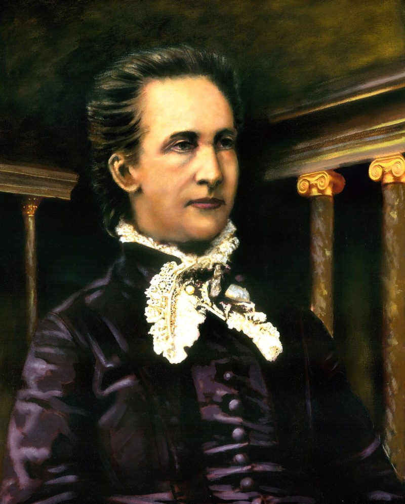 Portrait of Belva Ann Lockwood.