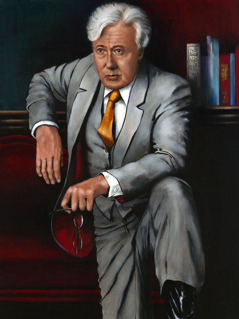 Portrait of Melvin Belli: 3/4 Body