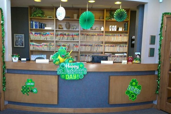 Dental Images Oklahoma City decorated for St. Patrick's Day