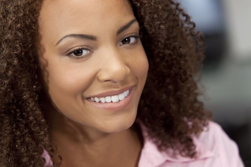 A woman with a great smile
