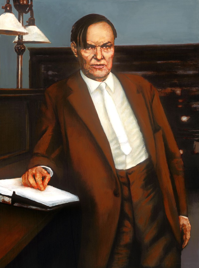 Portrait of Clarence Darrow. Head and shoulders.