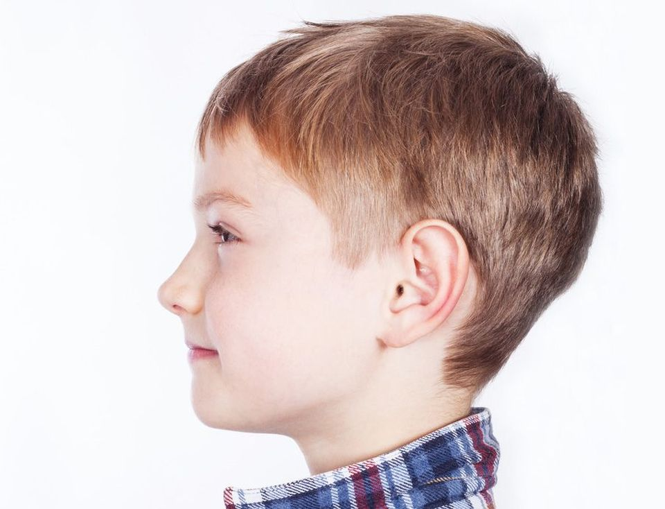 A young child with proportionately shaped ears