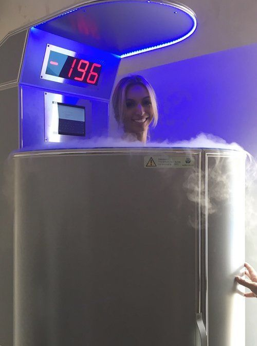 Cryotherapy chamber.