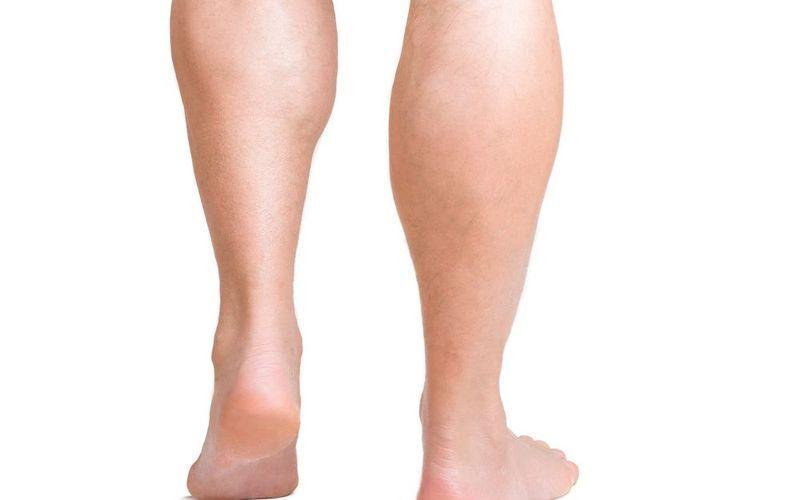 Man's muscular calves