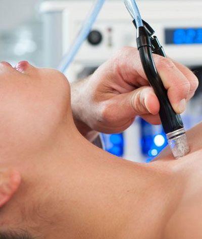 Photo of woman receiving skin treatment