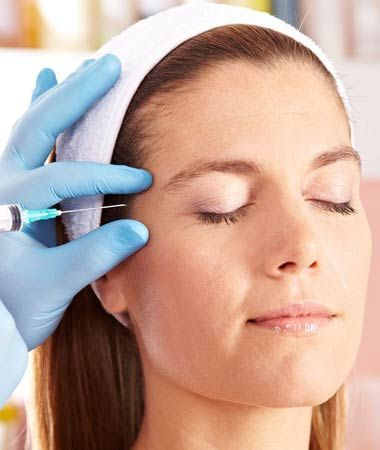 Woman receiving injectable treatment