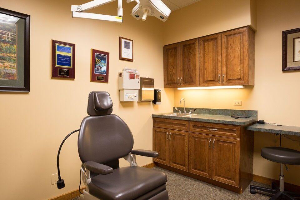 Interior of hair restoration office