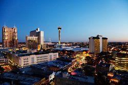 The skyline of San Antonio, TX