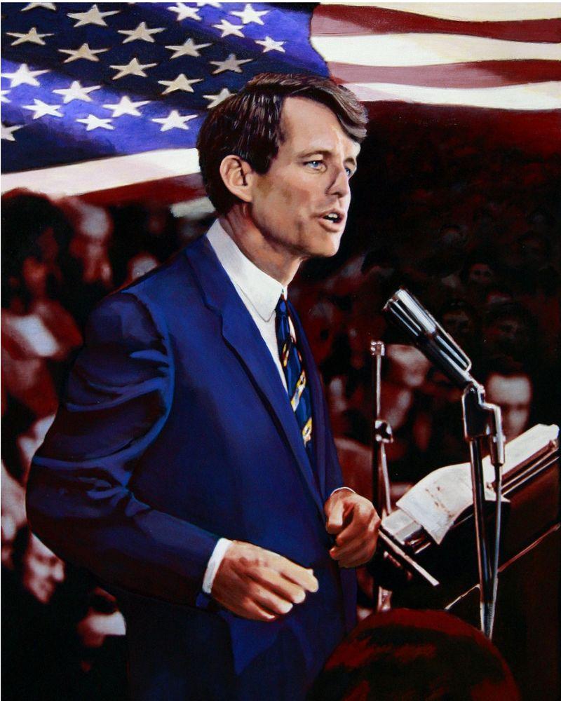 Portrait of Robert Kennedy.