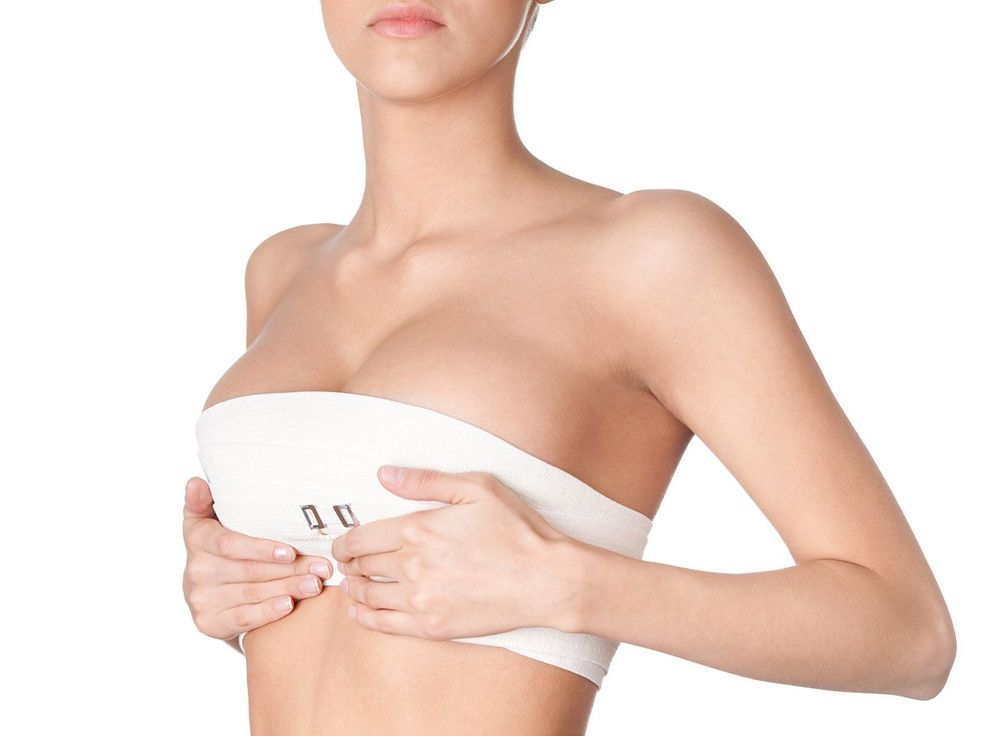 a woman wearing a compression garment