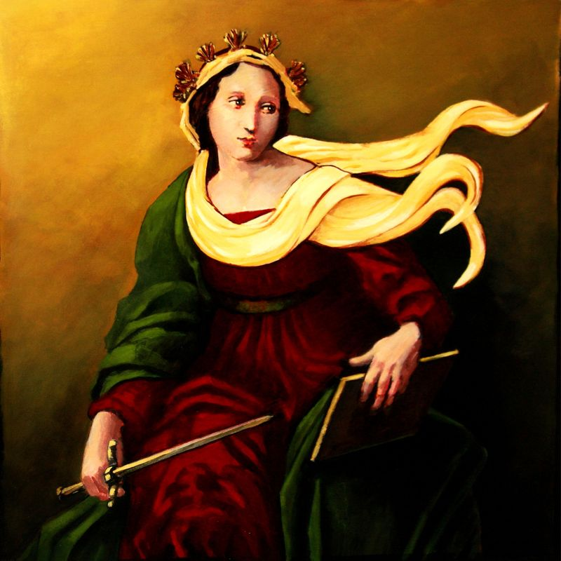 Painting of Themis, personified.
