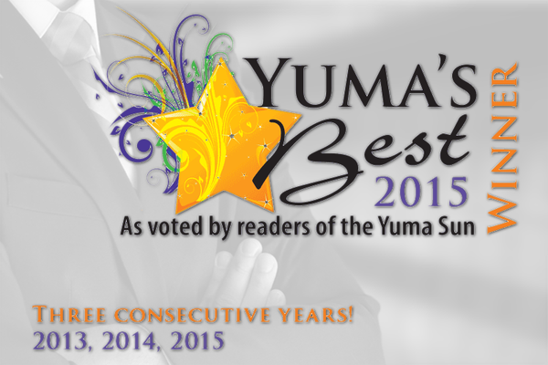 Yuma's Best Law Firm Yuma Sun Award banner