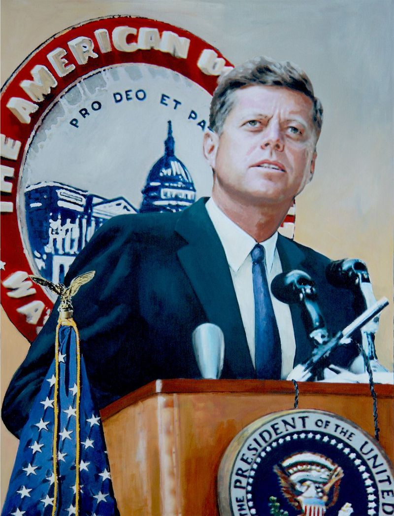Portrait of John F. Kennedy.