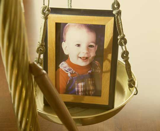 framed picture of a child