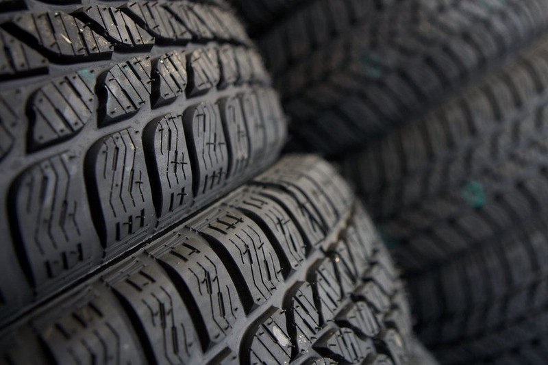 Close-up of an automobile tire