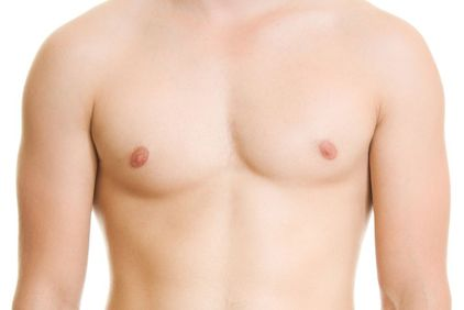 A man with excessive breast tissue
