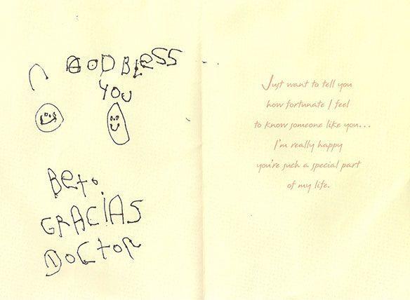 Patient testimonials: image of handwritten letter 4
