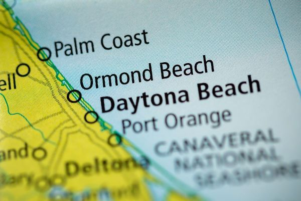 Map of Ormond Beach and other coastal towns
