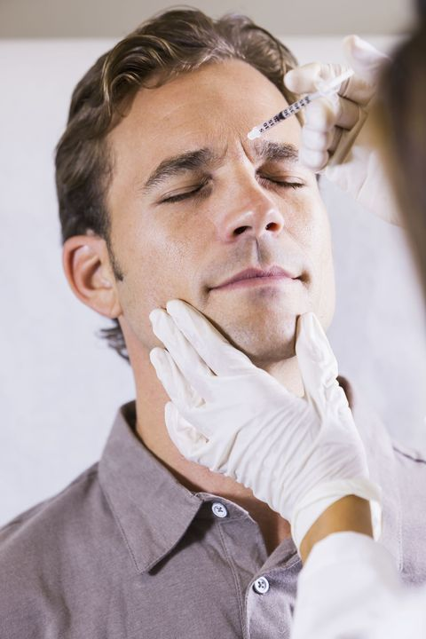 man receiving BOTOX